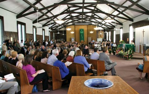 The memorial was held at Our Lady Queen of Peace Chapel.