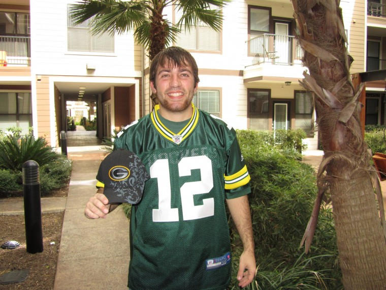 Packers fan, graduate student Ryan Centi