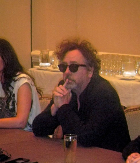 Tim Burton is one of many celebrity directors at this years' fest.