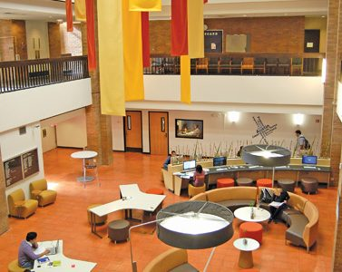 Renovations in Moody Hall swap couches for new computers