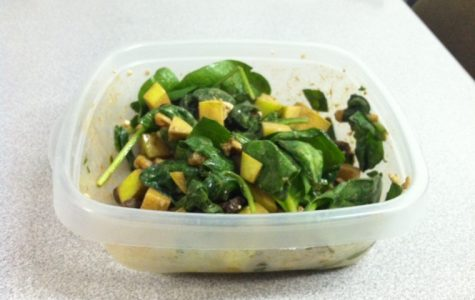 Salad is just one of many healthy on-campus dining choices.