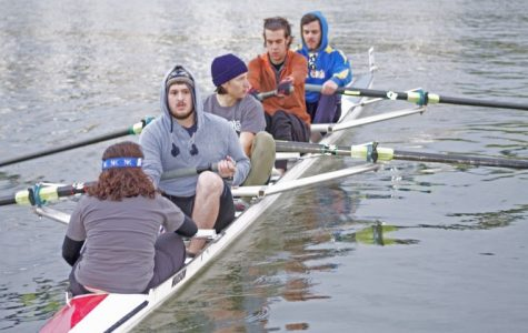 Rowing bests big teams at Regatta