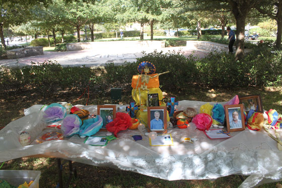 HSA created an altar to honor deceased faculty members.