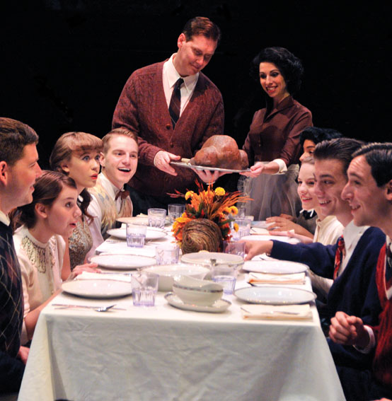 The Thanksgiving scene is a symbol of Americana in the play that kicks off the 40th season.