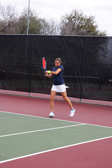 Khadzhyan won her first two singles matches to make it to the round of 16 in the recent NCAA Division II Regional tennis tournament in Abilene, Texas.