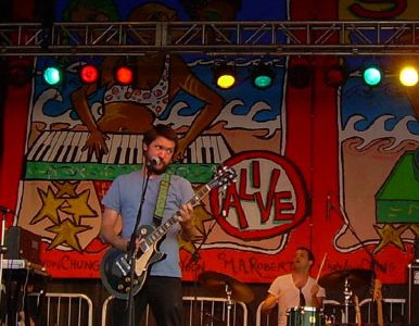 The rock band Cursive have been performing together since 1995.
