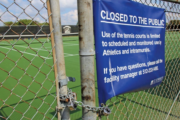 Until this fall, the courts were open to the public.