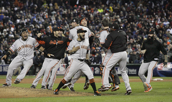 The+San+Francisco+Giants+celebrate+defeating+the+Detroit+Tigers+in+the+10th+inning+of+Game+4+of+the+2012+World+Series+at+Comerica+Park+in+Detroit%2C+Michigan%2C+Sunday%2C+October+28%2C+2012.+The+Giants+defeated+the+Tigers%2C+4-3%2C+and+swept+the+series+4-0.+%28Gary+Reyes%2FSan+Jose+Mercury+News%2FMCT%29%0A