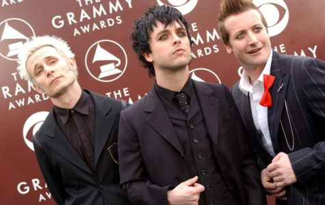 The rock group Green Day arrives at the 47th Annual Grammy Awards in Los Angeles, California, on February 13, 2005.