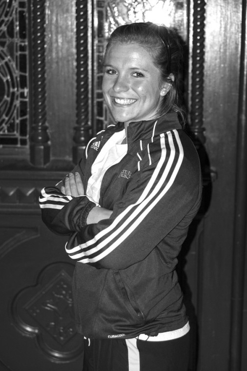 Lauren Heller plays for the varsity women's soccer team. So far this season, she has scored 12 goals and provided 5 assists.