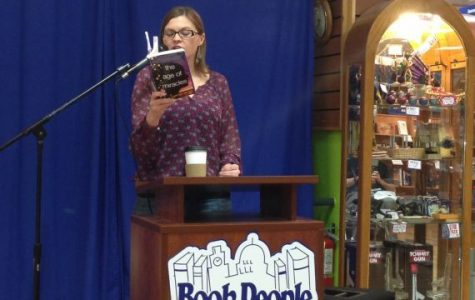 Bestselling author speaks about novel at Book People