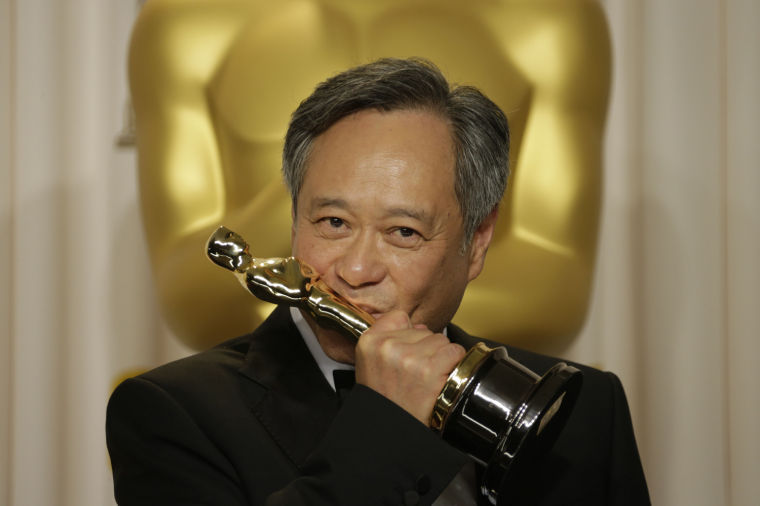 Ang Lee backstage at the 85th annual Academy Awards at the Dolby Theatre at Hollywood & Highland Center in Los Angeles, California, Sunday, February 24, 2013.
