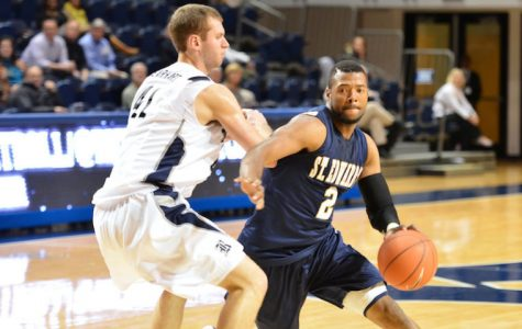 Men's basketball preps for Battle of the Saints