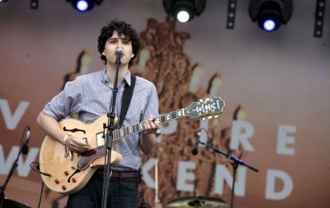 Frontman Ezra Koenig is known for his quirky vocals and skillful mastery of his guitar.
