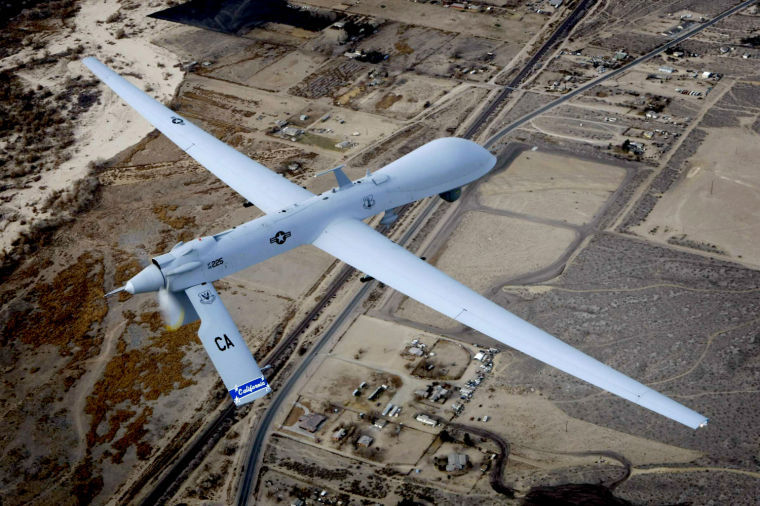 An+unmanned+drone+flies+a+training+mission+over+Victorville%2C+California%2C+on+January+9%2C+2010.%C2%A0%0A