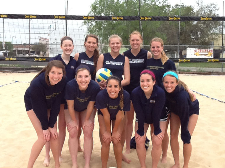 Five teams of two represented the Hilltoppers in a volleyball tournament in San Antonio.