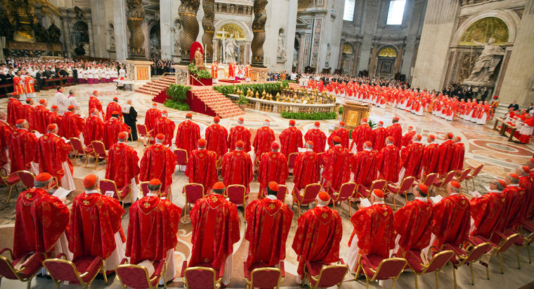 Cardinals%2C+including+Cardinal+Dolan%2C+gather+at+the+Vatican+for+the+election+of+Pope+Francis.%0A