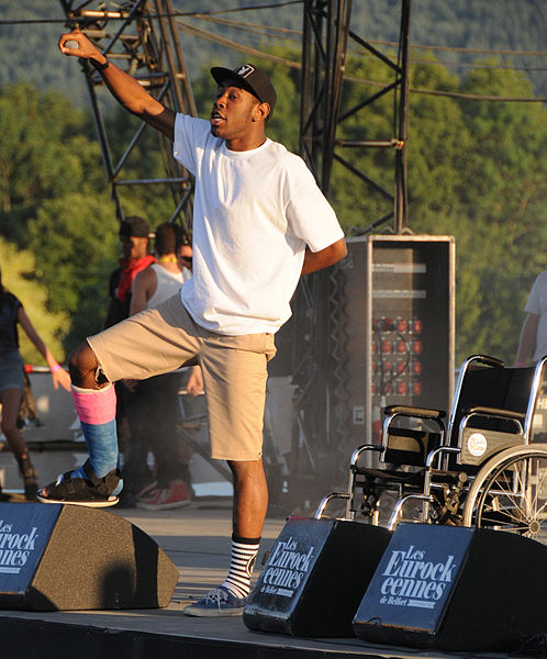 Tyler, the Creator performing with his hip-hop group, Odd Future.