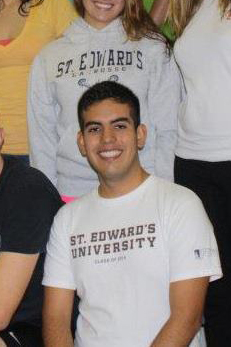 Octavio Sanchez is the captain of the club swimming team