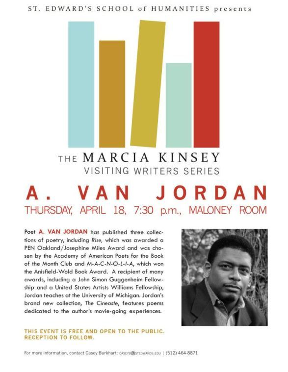 A.+Van+Jordan+will+be+reading+on+April+18+at+7%3A30+in+the+Maloney+Room.%C2%A0%0A