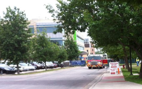 The Fire Department was testing the fire lines near the JBWN building and Dujarie parking lot.