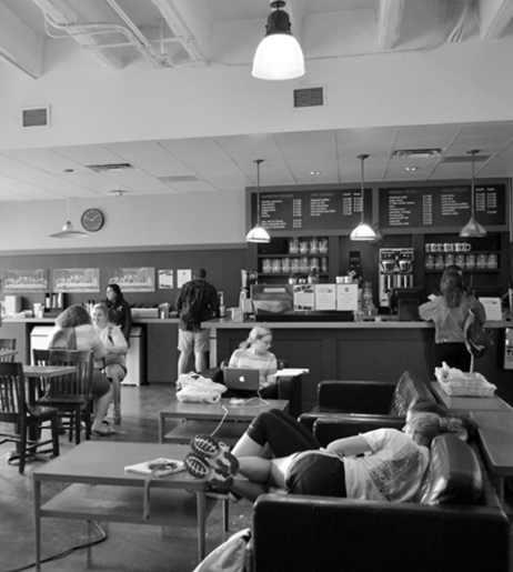 Jo's Coffee Shop is a campus favorite relaxation spot.