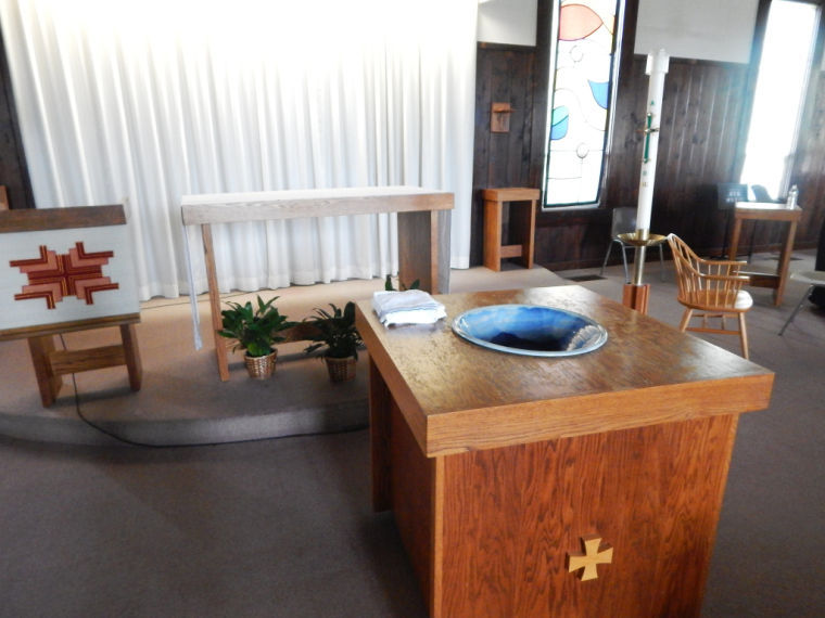 The alter at the Our Lady Queen of Peace Chapel.