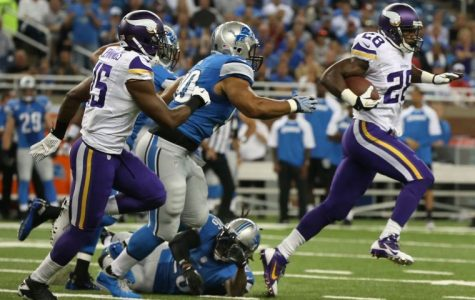 Vikings star Adrian Peterson is a popular fantasy RB pick.