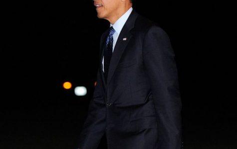 President Barack Obama returning to the White House in Washington, D.C..