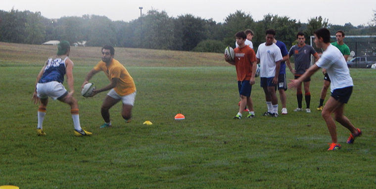 The rugby football club recruits players without any NCAA assistance or student scholarships.