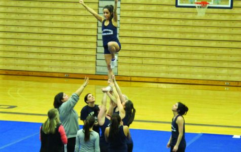Nicole Wilkins took over cheer squad after Ann Carney quit.