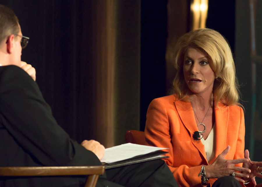 Davis said that she will use her veto power for the people of Texas.