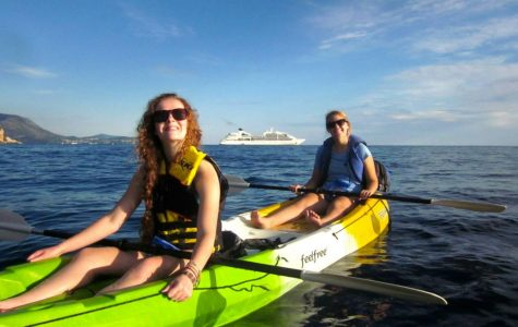 Sea kayaking on the Adriatic with my roommate. What a beautiful and tiring experience!