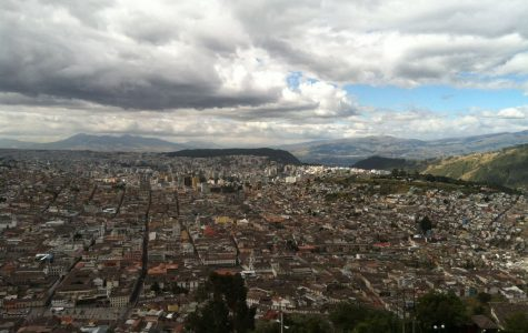 This is a view of less than half of Quito from the Panecillo, a famous statue of the Virgin Mary.