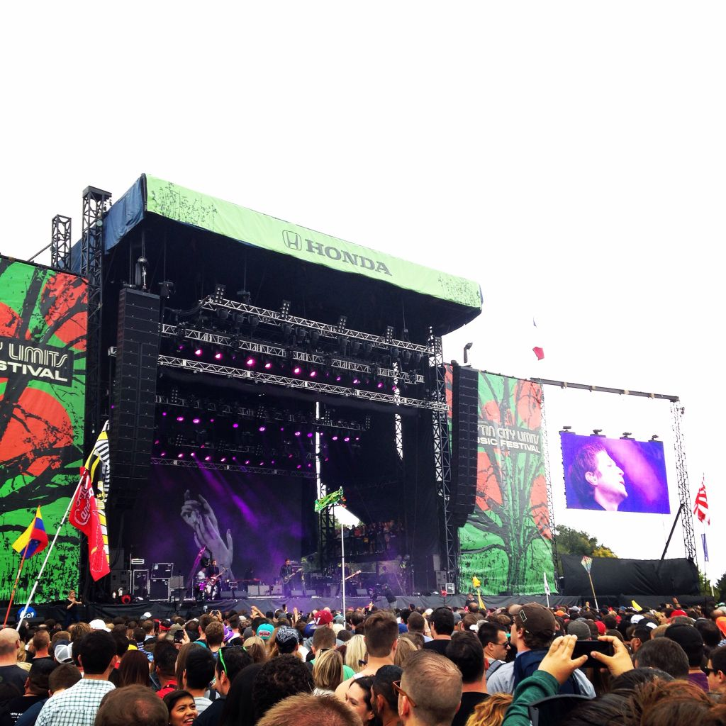 Interpol rocks out, inspiring the crowd to jam along.