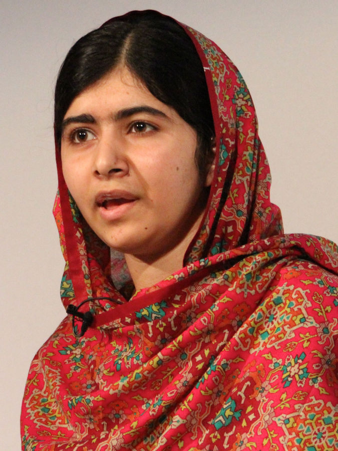 Malala Yousafzai is a Pakistani school-girl who, at 11 years old, stood up to the Taliban by defending her right to an education through blogging.