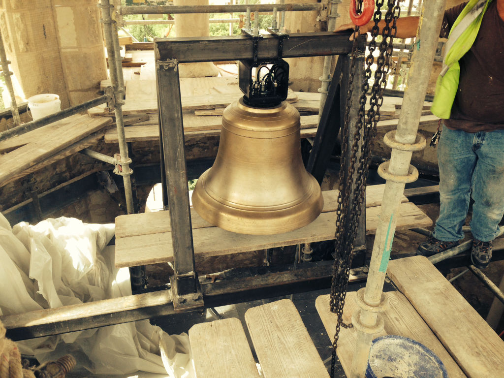 The bell was believed to be made at Stuckstede & Bro. bell foundry which operated in St. Louis, Missouri from 1890 to 1940.