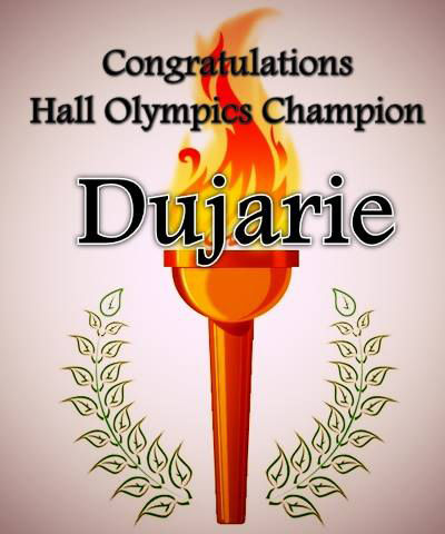 The Dujarie Jaguars took home this year's Hall Olympics victory.