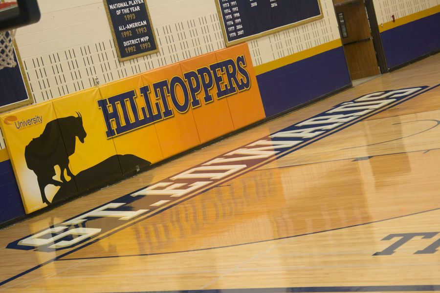 The basketball court in the RCC was given a makeover over winter break.