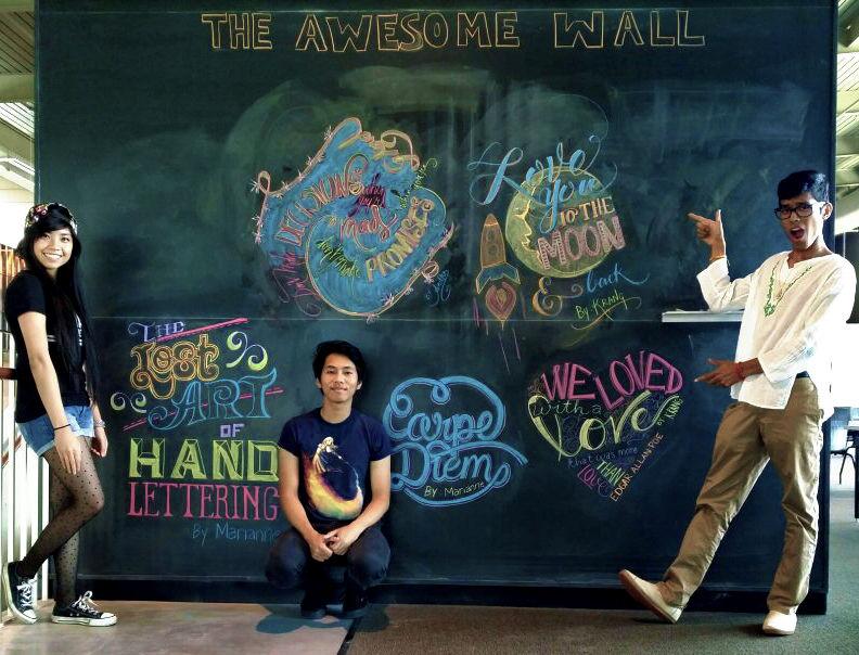 Computer science student mastermind behind chalk murals