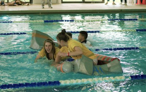 The much-anticipated Topper Cup Homecoming competition kicked off on Sunday with the cardboard boat regatta