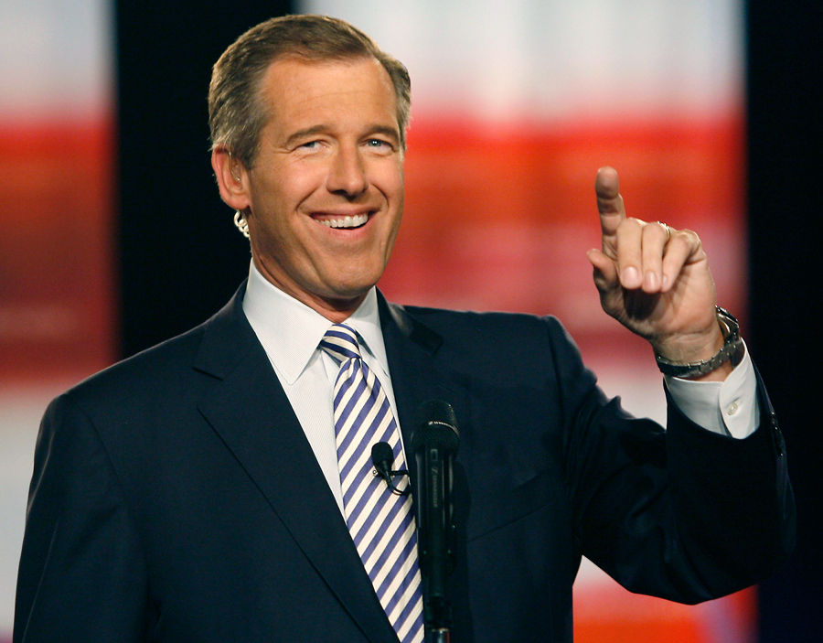 Brian Williams is back on television after a seven month absence.