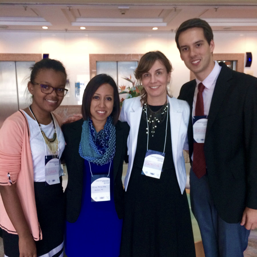 Irma Fernandez (second from left to right) is a St. Edwards graduate currently working in Brazil with her Fulbright grant.