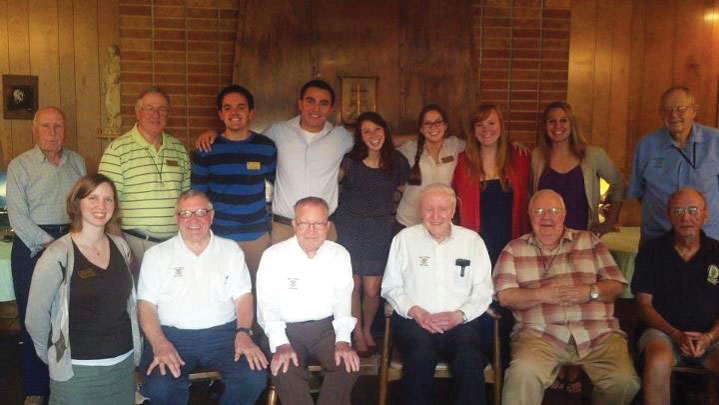 Students spent time with the Holy Cross Brothers to learn about St. Edwards founders.