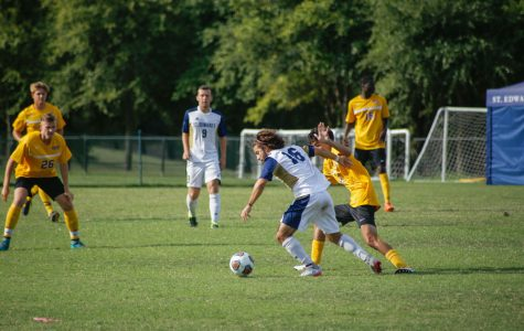 St. Edward's University men's soccer team wins fourth consecutive Heartland Conference regular season title