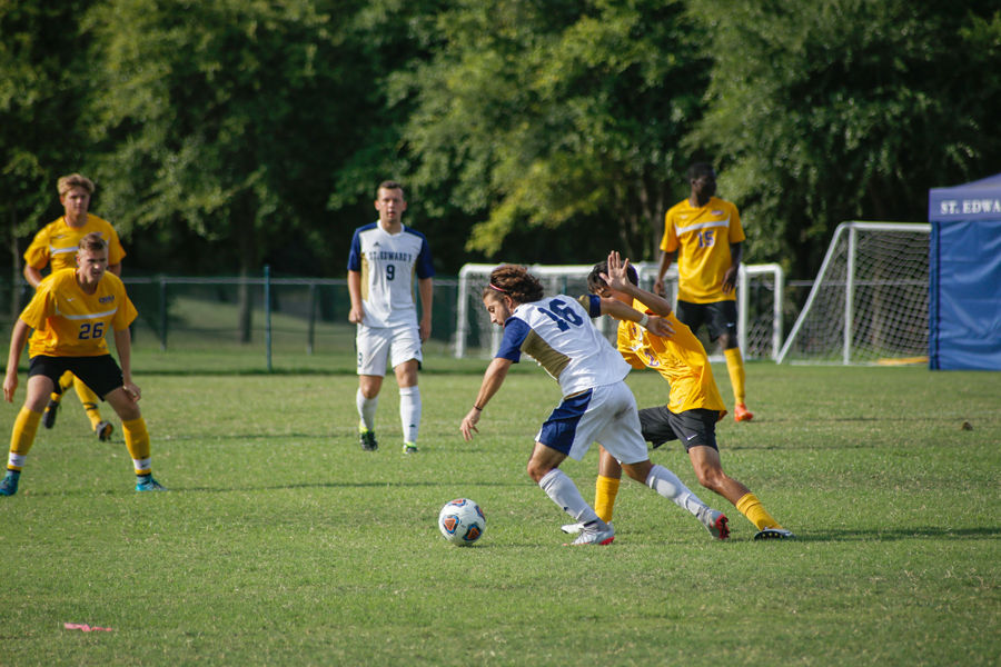 This is the fourth consecutive Heartland Conference St. Edward's men's soccer team has won.