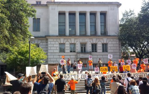 There was an anti-gun rally at The University of Texas - Austin on Oct. 1.