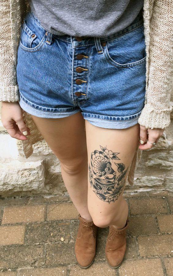 Duane wanted her tattoo showcased.