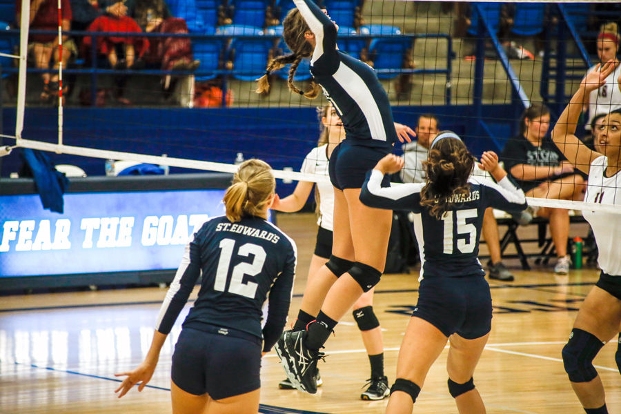 The St. Edward's University volleyball team's season came to an end Nov. 14, missing the playoffs after a 8-20 record.