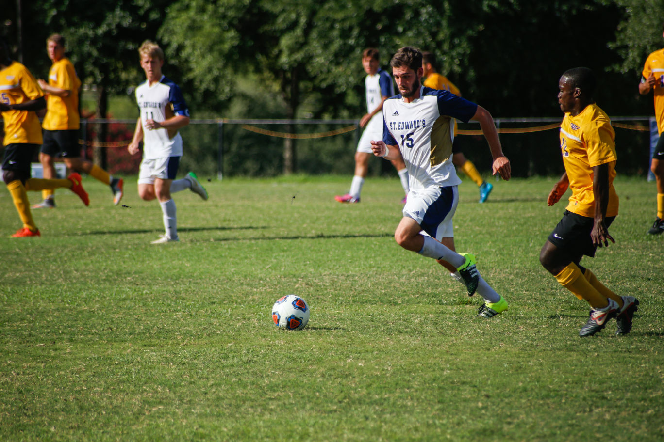 Junior midfielder Jack Blanton scored the winning goal on a penalty kick against Texas A&M-International University in extra time on Nov. 7.